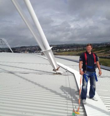 Andrew Surveying Stadium Roof